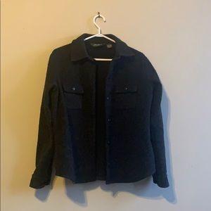 Eddie Bauer Fuzzy Shirt-Jacket